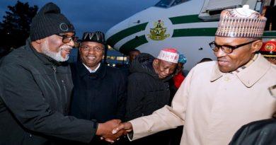 Buhari arrives France for One Planet Summit