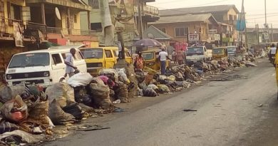 Concern as refuse mounts up on Lagos roads